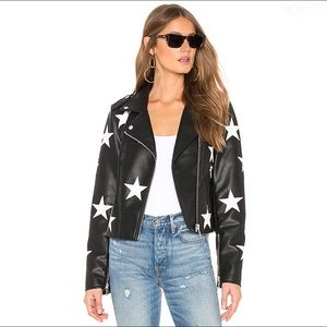 Blank NYC star The End Game leather jacket medium
